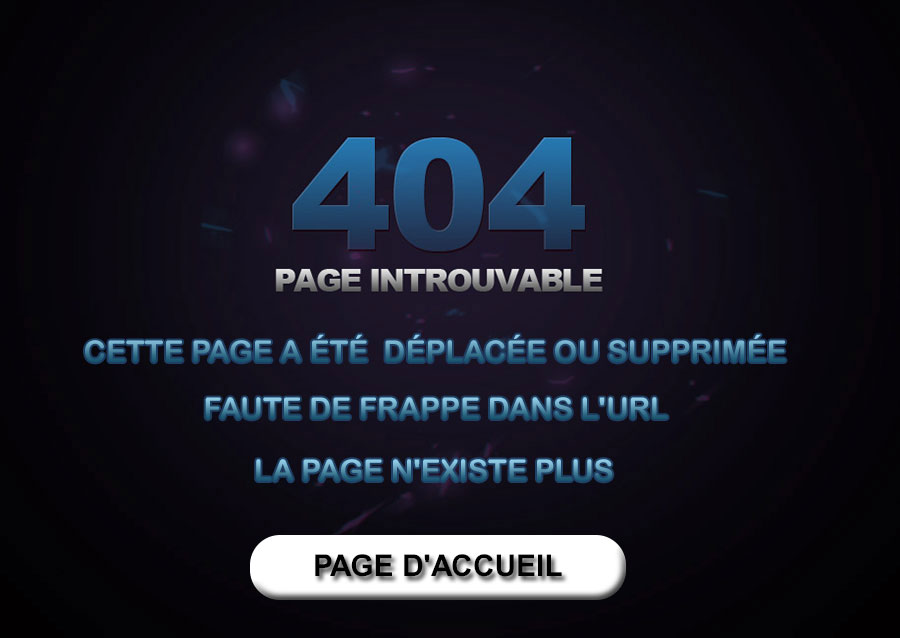 Error 404 Page introuvable